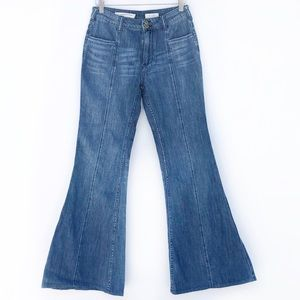 Anthropologie Pilcro High Rise Wide Flare Jeans